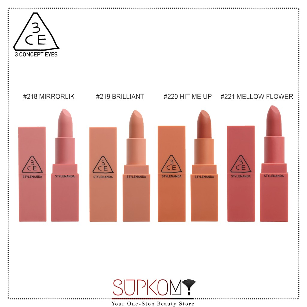 【CLEARANCE】NEW 3CE Stylenanda Red / Mood Recipe Lip Color 2017