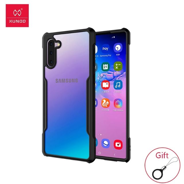 Xundd Phone Case For GALAXY Note10 Case Shockproof case For SAMSUNG GALAXY Note 10 Plus With Bumper Beet With Strap