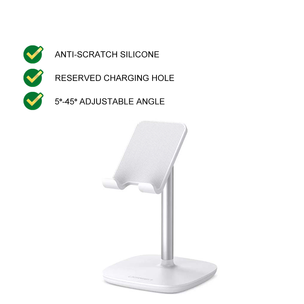 UGREEN 45 Degree Multi Angle Adjustable Tablets Desk Dock Stand Holder for All Phone IOS Android iPhone iPad Tablet