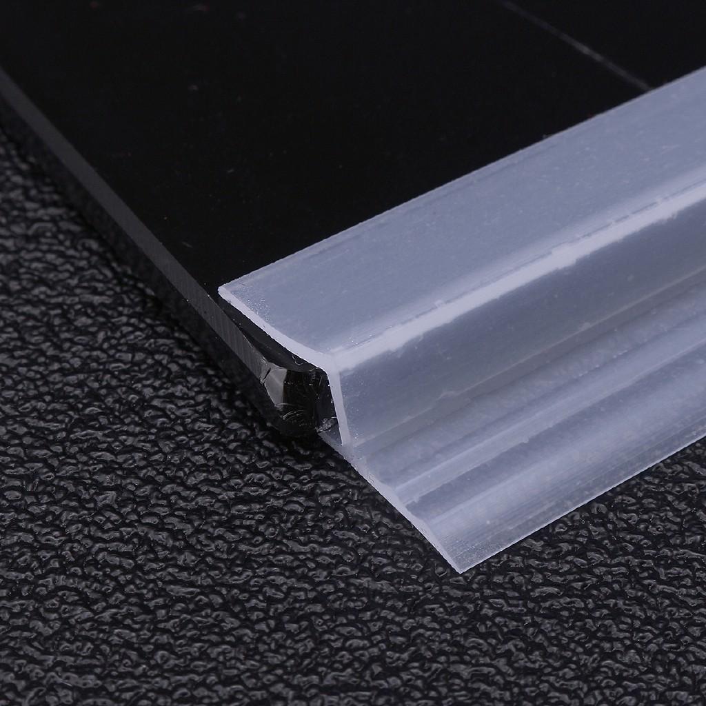 2M Bath Shower Screen Door Window Seal Strip Gap Curved Flat Rubber 6mm-12mm