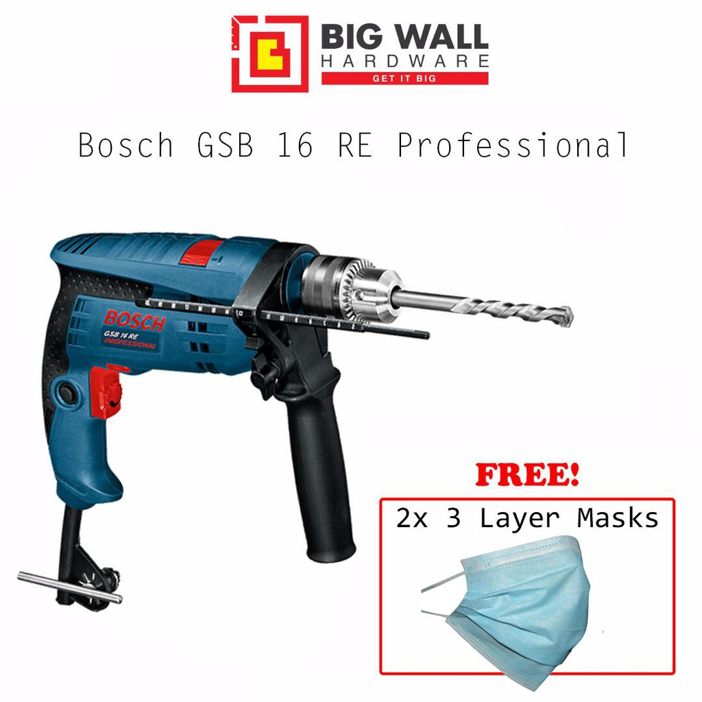 Bosch GSB 16 RE Professional Impact Drill [100 Pcs Accessory Pack]