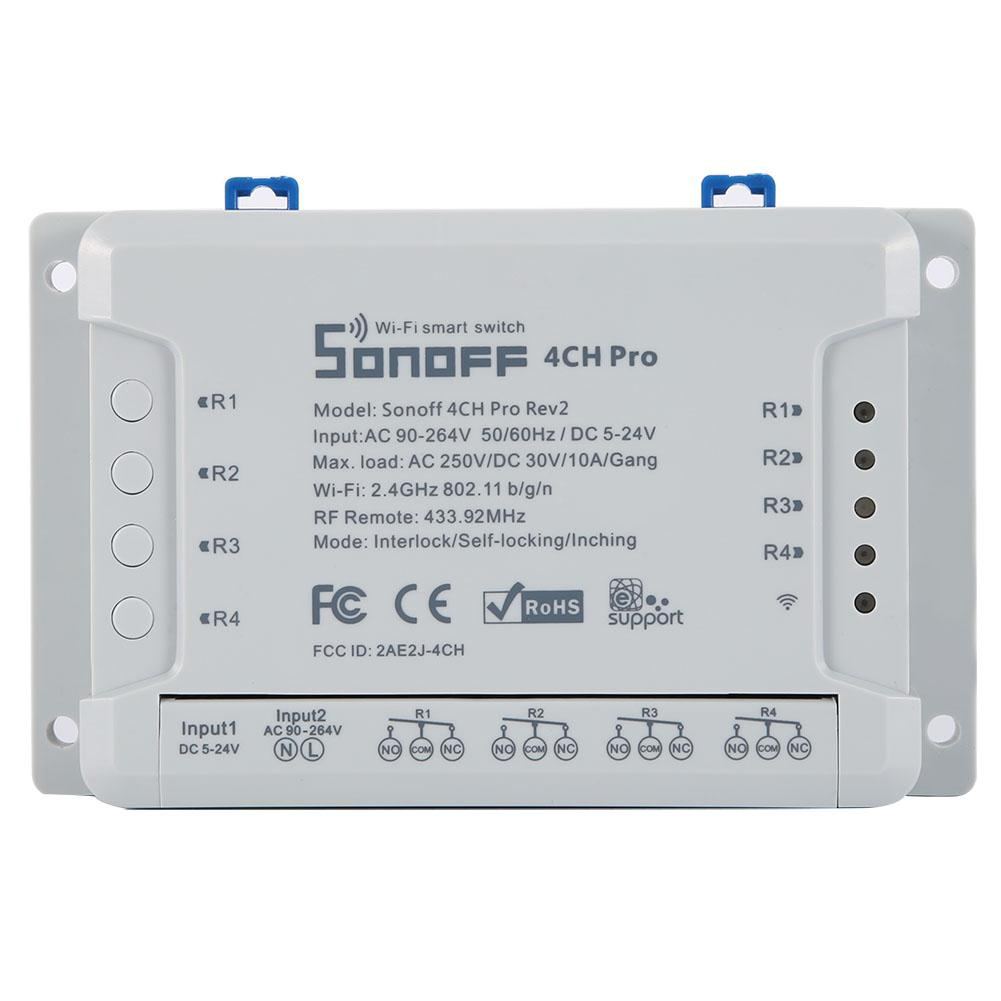 Sonoff 4CH Pro R2 4 Way Mounting WiFI Wireless Smart Switch