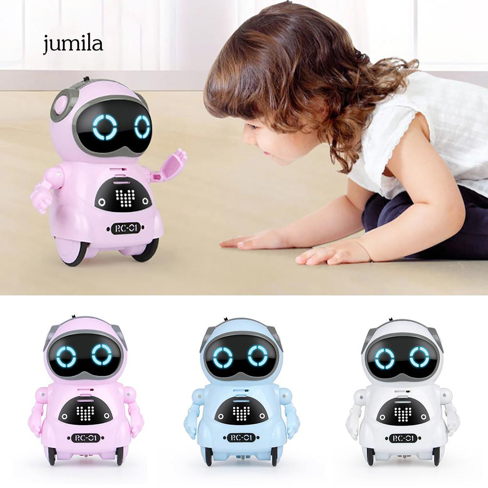 JL_Mini Pocket Robot Voice Control Chat Record Sing Dance Interactive Kids  Toy