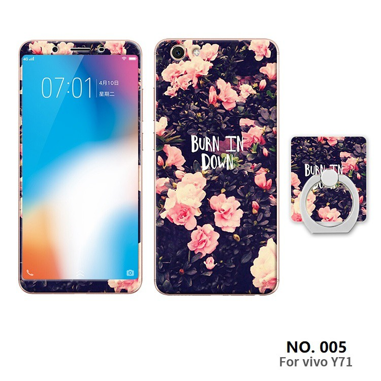 super popular b80ea 1d33a VIVO Y71 Soft Cover case+Tempered glass screen protector+Ring support