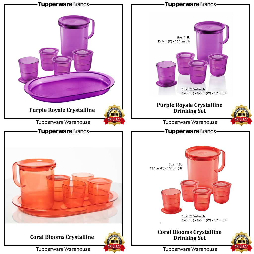 💥READY STOCK💥 Crystalline Drinking Collection by Tupperware Brands. Dulang hidang elegant Tupperware