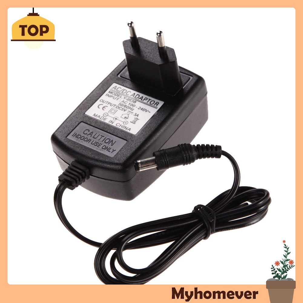 AC 100-240V DC 5V 3A 3000mA EU Plug USB Power Supply Adapter Converter Charger