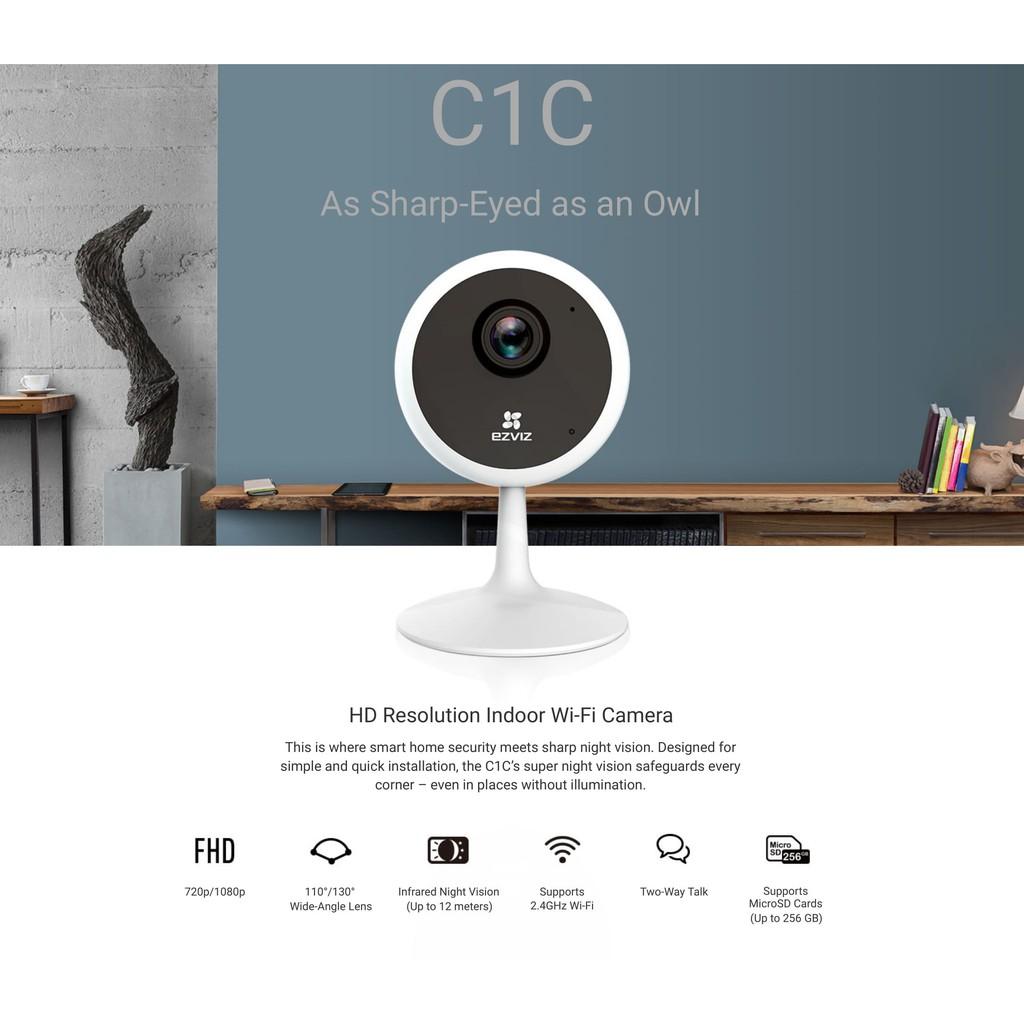 Ezviz C1C 720P 1080P 1080P PIR HD IP Security Smart Camera / Wireless WiFi Surveillance CCTV C6CN