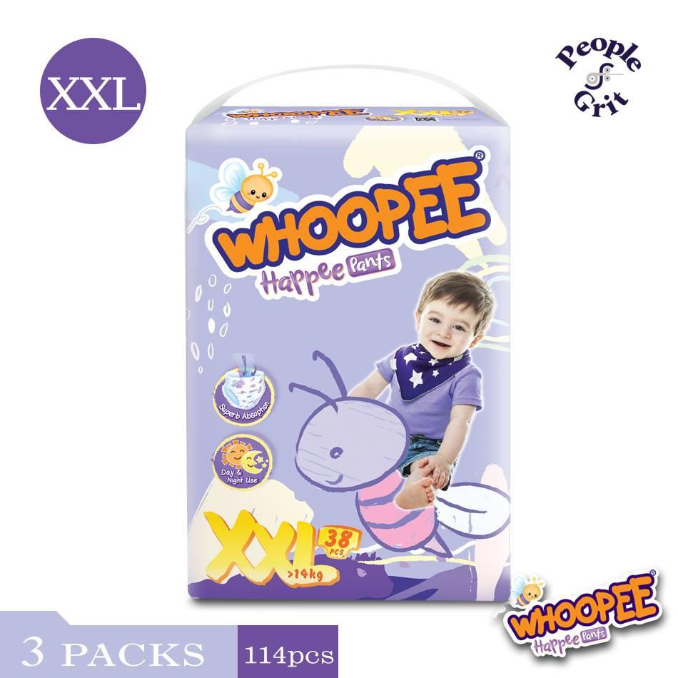 Whoopee Happee Pants Diaper  (M58/L48/XL44/XXL38)