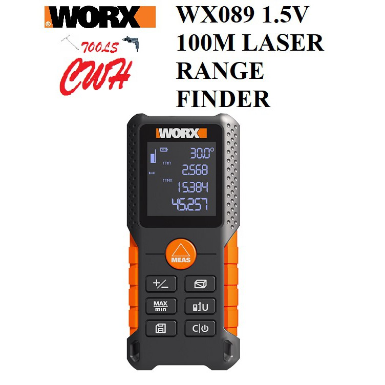 WORX WX089 1.5V 100M LASER RANGE FINDER WITH AAA BATTERY MEASURING LEVELING WX087 WX088 40M 70M