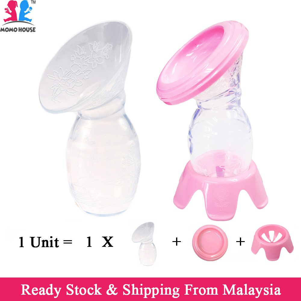 Manual Silicone Bpa Free Breast Pump Milk Collector 100Ml Pam Susu  Shopee Malaysia-3579