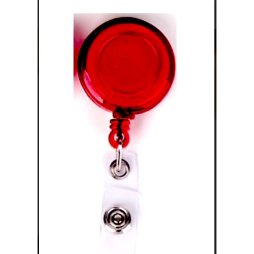 Yoyo Transparent Colour Tag Retractable ID Badge Holder Lanyard