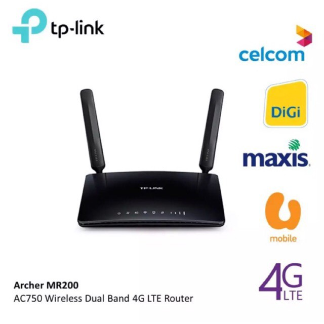 FreeDelivery| TP-LINK Archer MR200 WIRELESS DUAL BAND 4G WIFI SIM ROUTER  tplink