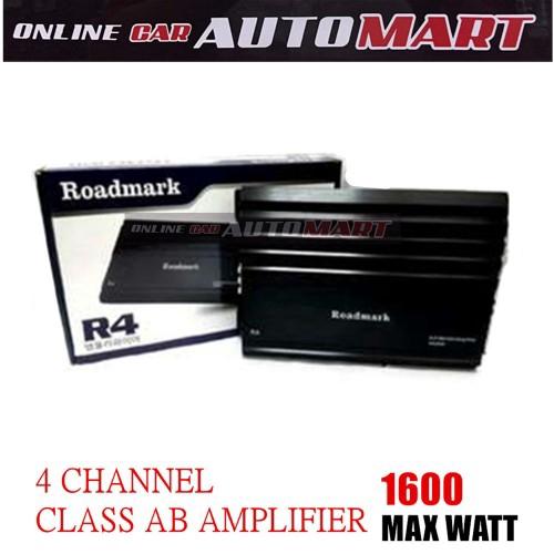 Roadmark R4 4 Channel Class AB Amplifier 1600 Max Watt