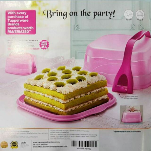 [DISCOUNT] TUPPERWARE FRESH & FANCY CAKE CARRIER | Shopee Malaysia