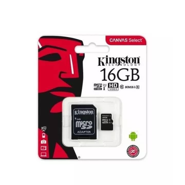 Kingston Canvas Select 16GB / 32gb microSDHC Class 10 Memory Card SDCS/16GB SDCS/32GB