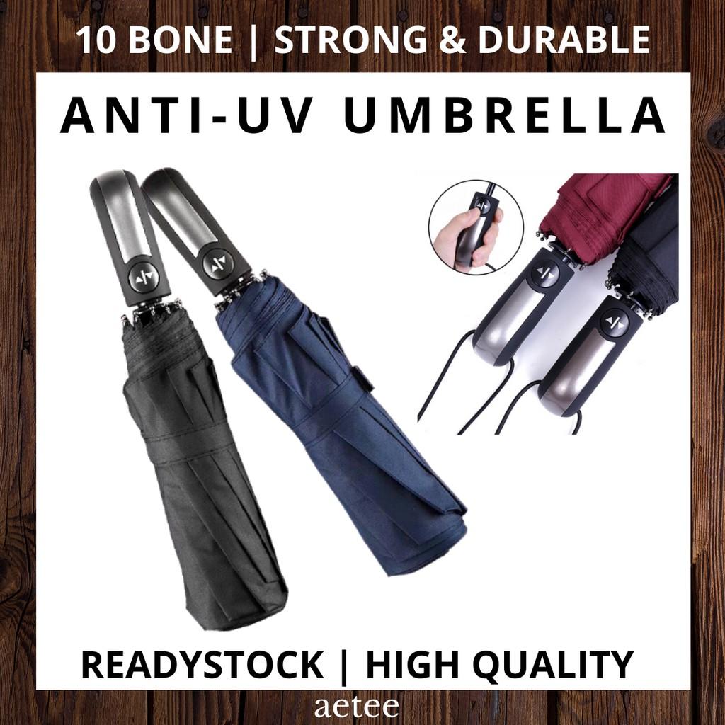 Automatic 10 Bones Umbrella UV Block Strong & Durable  Foldable Windproof 10-Bones Umbrella [aetee]