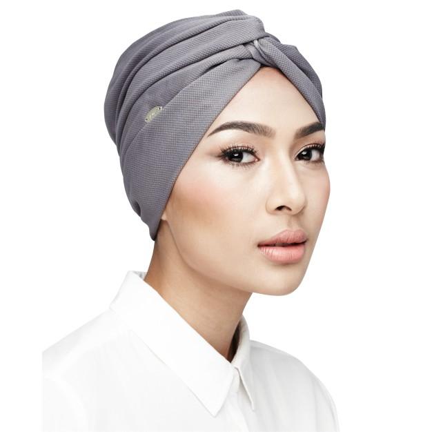 Semlouis Aurat Anak Tudung Muslim Clasis Turban - Grey  only / Innercap