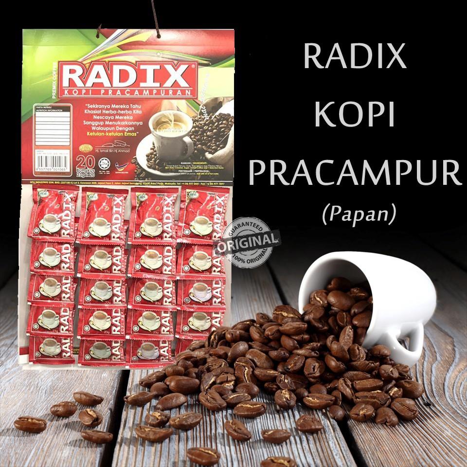 KOPI RADIX 23G X 20SACHET(PAPAN) 100% ORIGINAL HQ+FREEGIFT