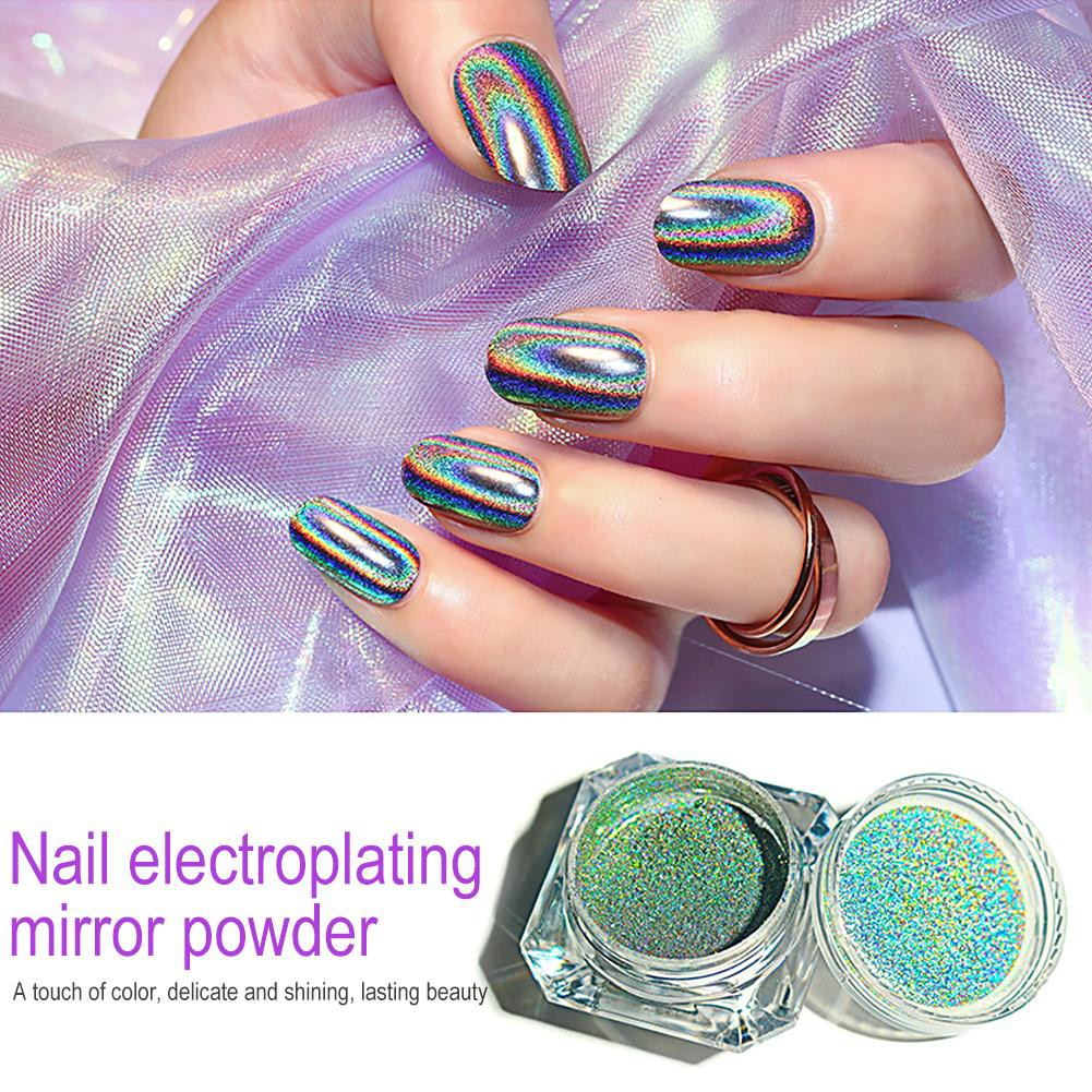 83f3e9e9aae57 [QUILETY] Magic Mirror Nail Glitter Holographic Powder Pigment Dust Nail  Decorations