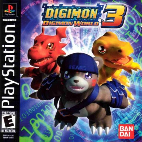 PS1 Game Digimon World 3, RPG Game, English version / PlayStation 1