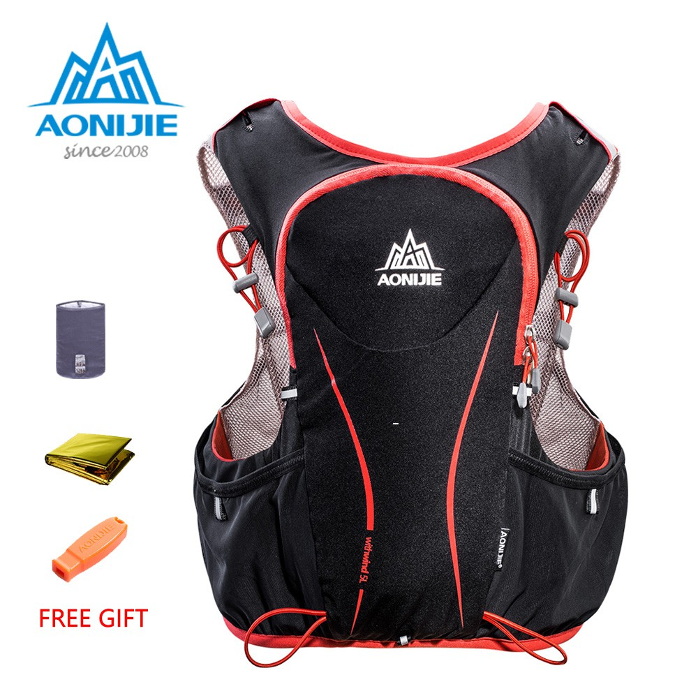 AONIJIE 5L Hydration Backpack Running Marathon Race Climbing Vest Water Bladder Backpack for Hiking Camping Marathon Race Climbing