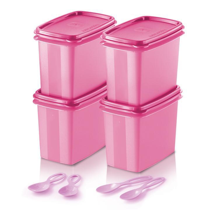 🔥 READY STOCK 🔥 Original Tupperware Shelf Saver with Spoon (4) 840ml - Pink