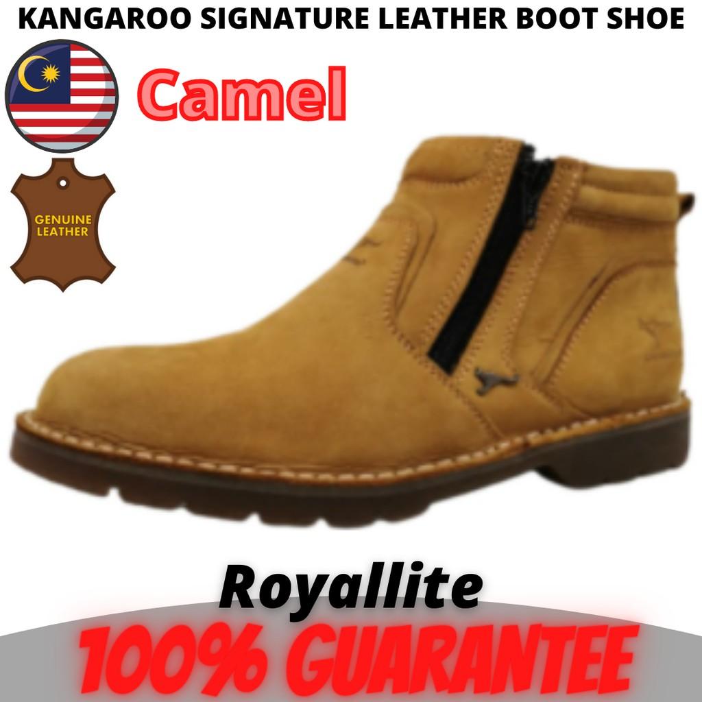 KANGAROO SIGNATURE LEATHER BOOT SHOE (8117) S13Khaki & S15Camel
