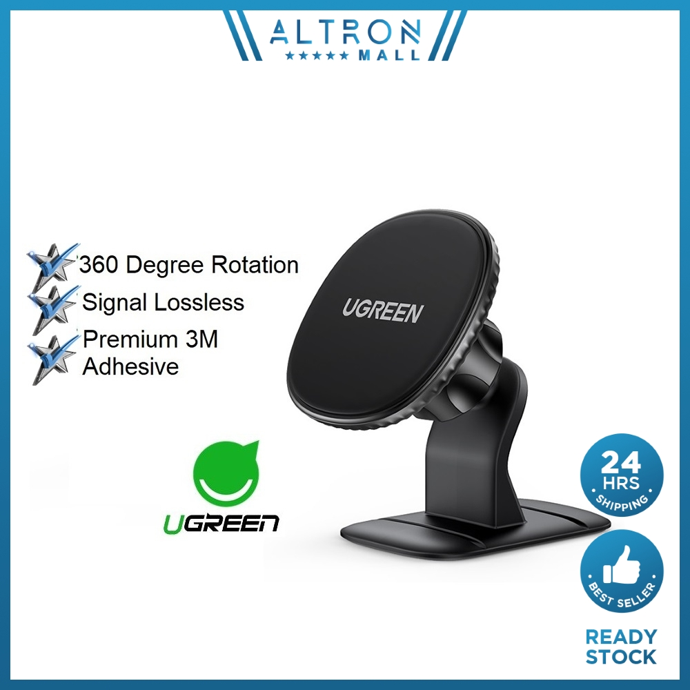UGREEN Strong Magnetic Car Phone Holder 3M Adhesive 4.7 7.2'' Mounts Dock 360 Rotation Stand Mount Docks Mini Size