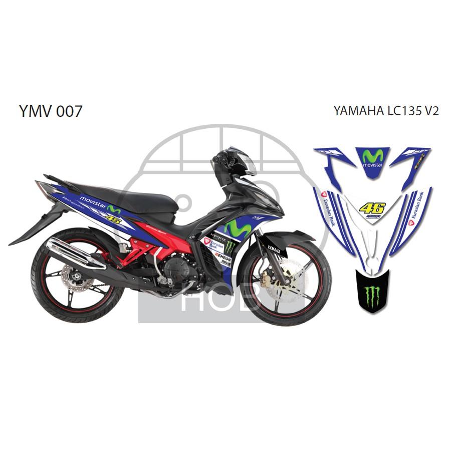 Yamaha lc135 jupiter mx4 sticker shopee malaysia