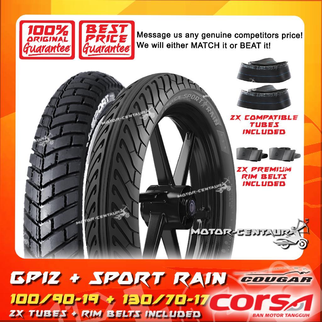 Cougar GPI1 130//70-17 Tubeless Rear Tyre Gilera GSM 50 Super Motard 1999-2003