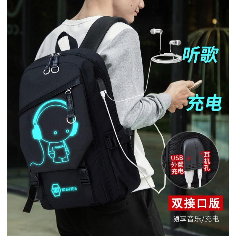 1c84e003b7 Backpack men s fashion school bag large-capacity Korean students   travel  bag