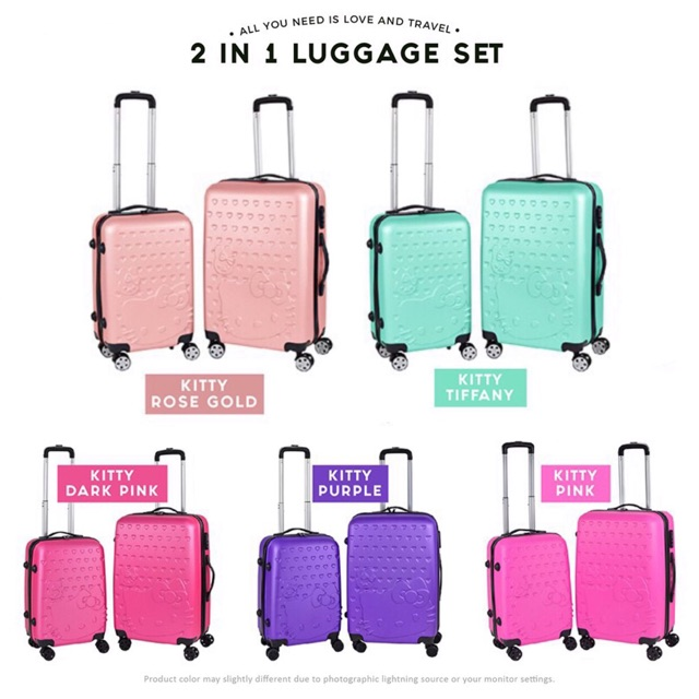 453f3f631 ProductImage. ProductImage. Ultra Light 2 in 1 Kitty Trolley Luggage 4  Wheels Travel Bag