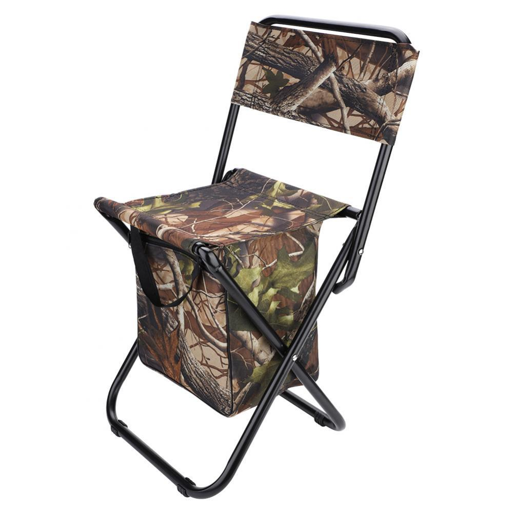 Awe Inspiring Portable Folding Chair Seat Stool With Backrest Storage Bag For Outdoor Fishing Pdpeps Interior Chair Design Pdpepsorg