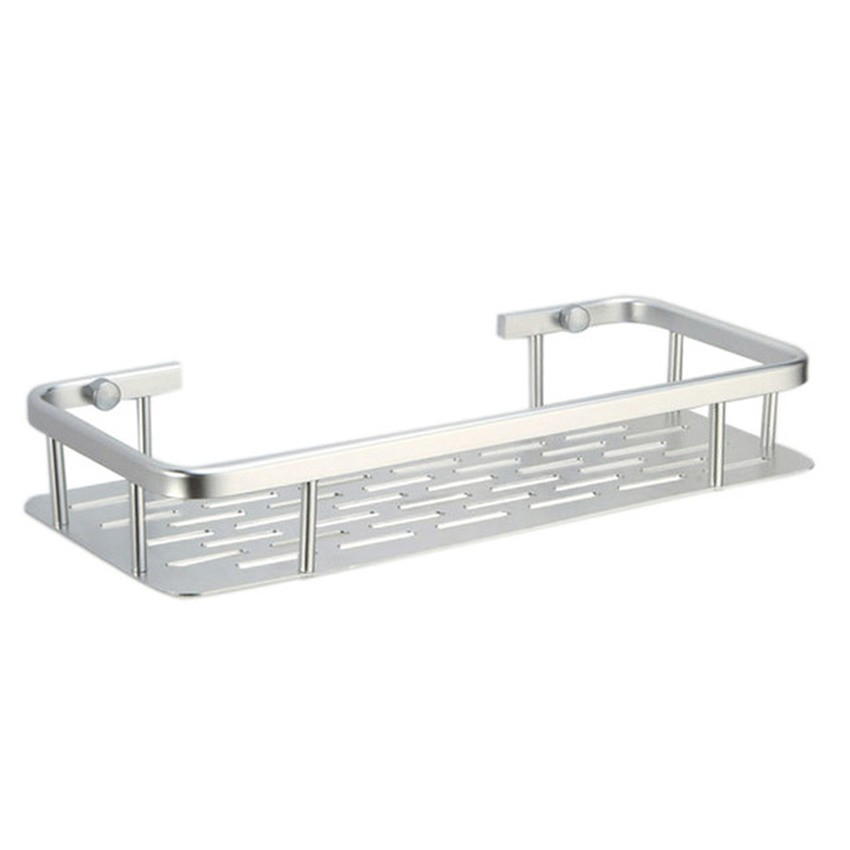 Strong adhesive wall mounted square Shelf without drilling (1 tier)