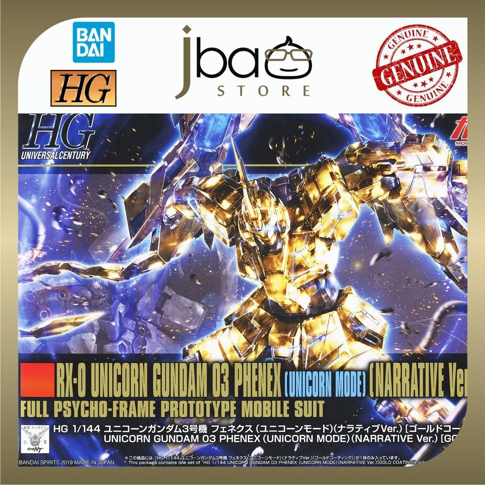 Bandai 1/144 Unicorn Gundam 03 Phenex Unicorn Mode Narrative Ver Gold Coating HGUC 227 Mobile Suit Model