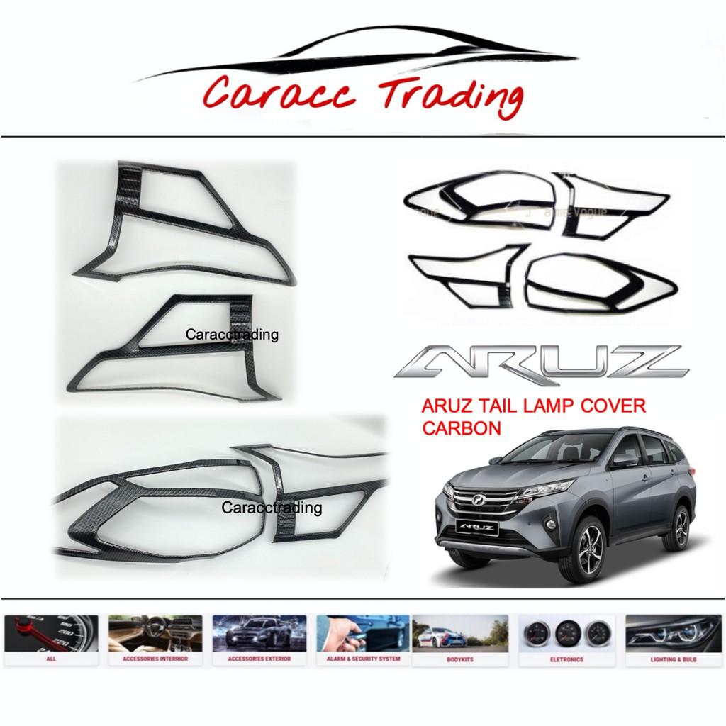 Perodua Aruz Tail Lamp Cover -CARBON