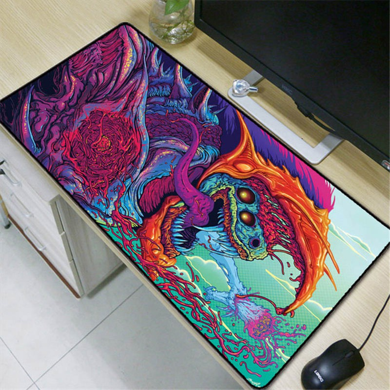 Large Extended Gaming Mouse Pad Desk Mat Computer Keyboard Hyper Beast LOL CSGO