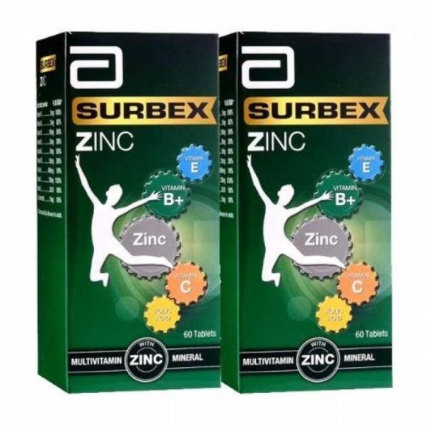 Abbott Surbex Zinc 60's x 2 (2 bottles) [Exp: 09/2022]