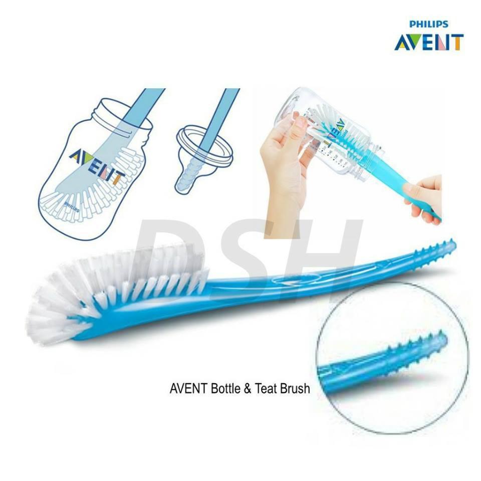 Pack of 4 Philips Avent Baby Bottle Brush Blue SCF145//06