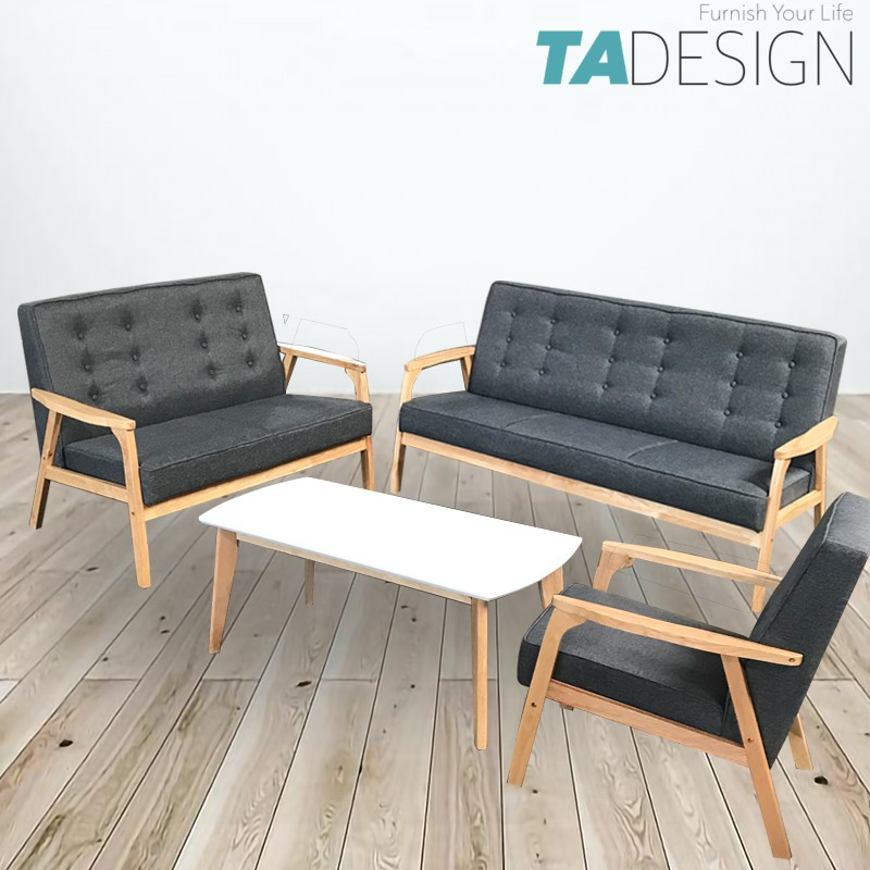 Wooden Sofa Set With Free Coffee