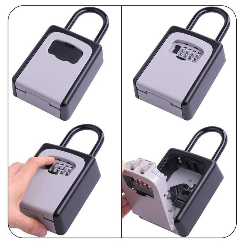 🌰Key Lock Box Wall Mount Key Lock Box 4-Digit Combination Key Box