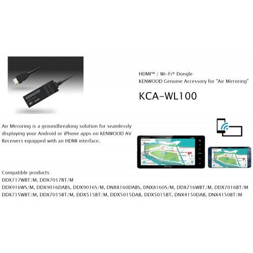 KENWOOD KCA-WL100 HDMI / WI-FI Dongle For Wireless