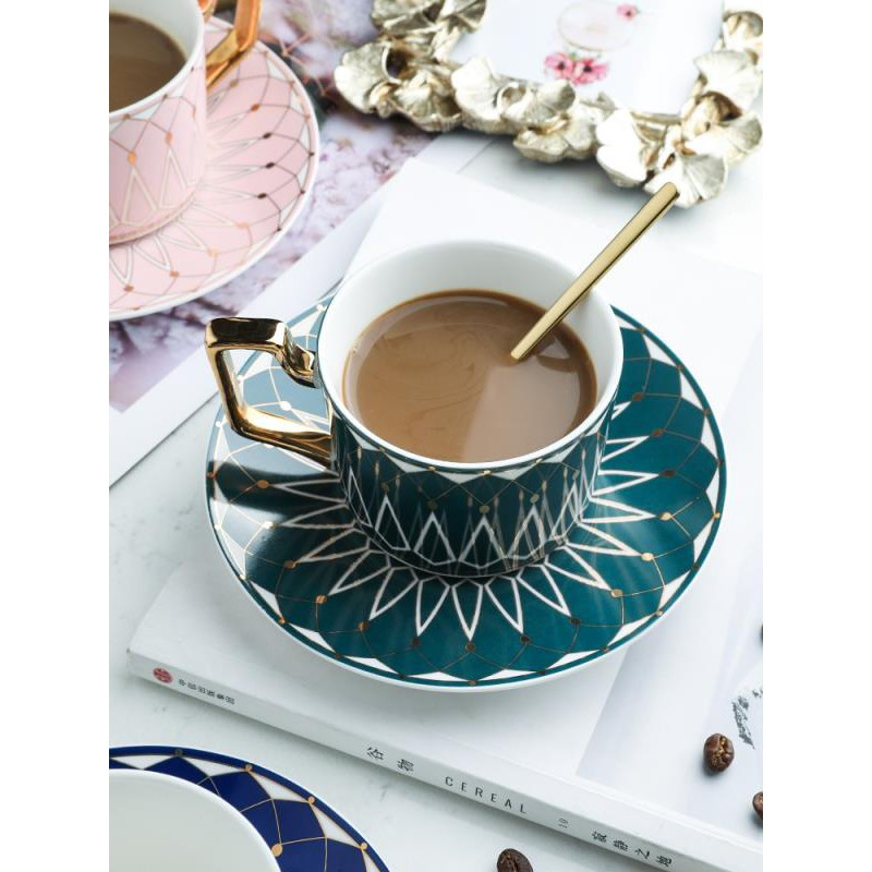 European Luxury Ceramic Bone China Coffee Cup And Saucer Set Flower Tea Red Tea Cup Gift Box With Hand Gift Sp Shopee Malaysia