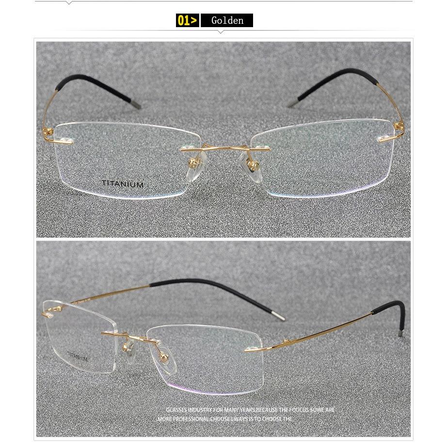 370e6007a374 Light-weight Rimless Titanium Eyeglasses Frame Titanium Alloy Optical  Spectacles | Shopee Malaysia