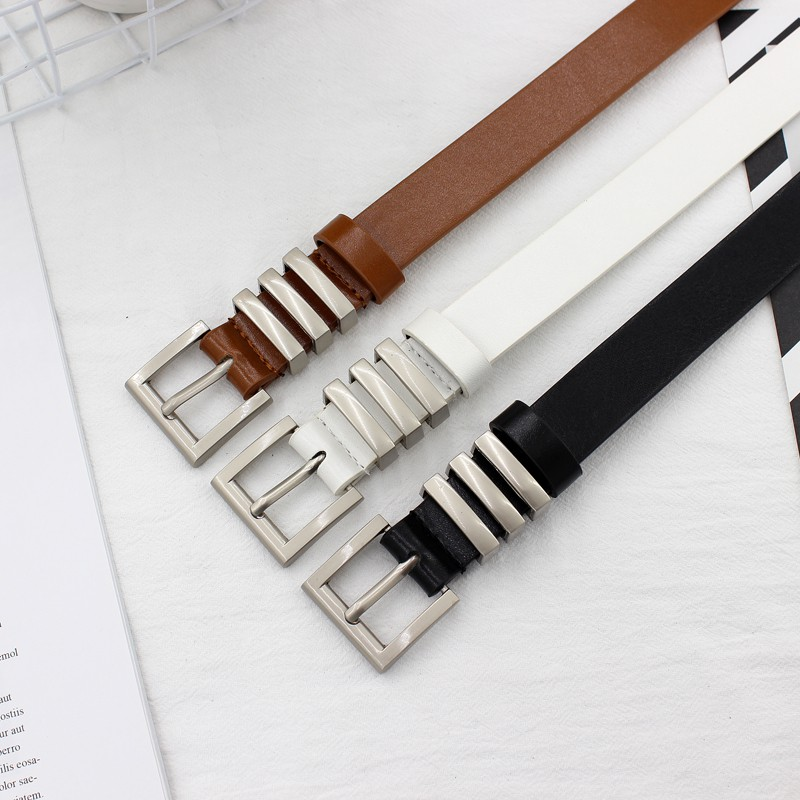 9d0dfb8c5b Korean version of the metal buckle belt women retro thin BF wind Korean  students