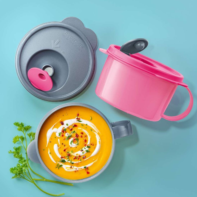 NEW Tupperware Crystalwave Soup Mug (2) 460ml