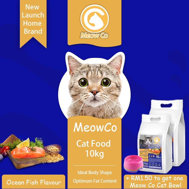 Meow Co Ocean Fish 10kg Cat Food / Makanan Kucing / Makanan Kucing Murah / Cheap Cat Food
