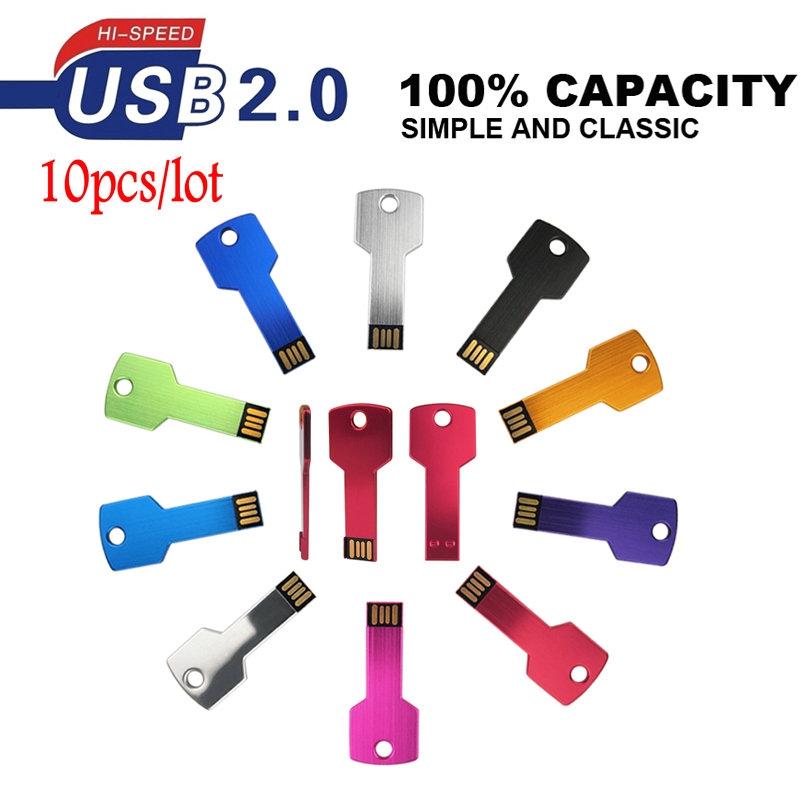 USB 2.0 Flash Memory Stick 32GB 16GB 8GB 4GB Thumb USB Metal Key Pen Drive lot