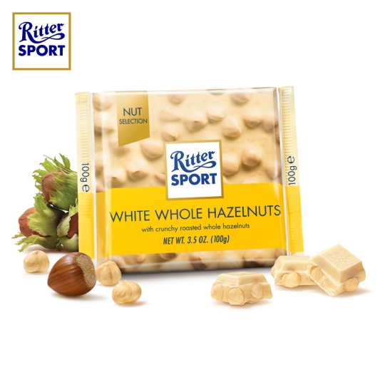 Ritter Sport White Whole Hazelnuts 100g Halal Ice Cold Packs Included Shopee Malaysia