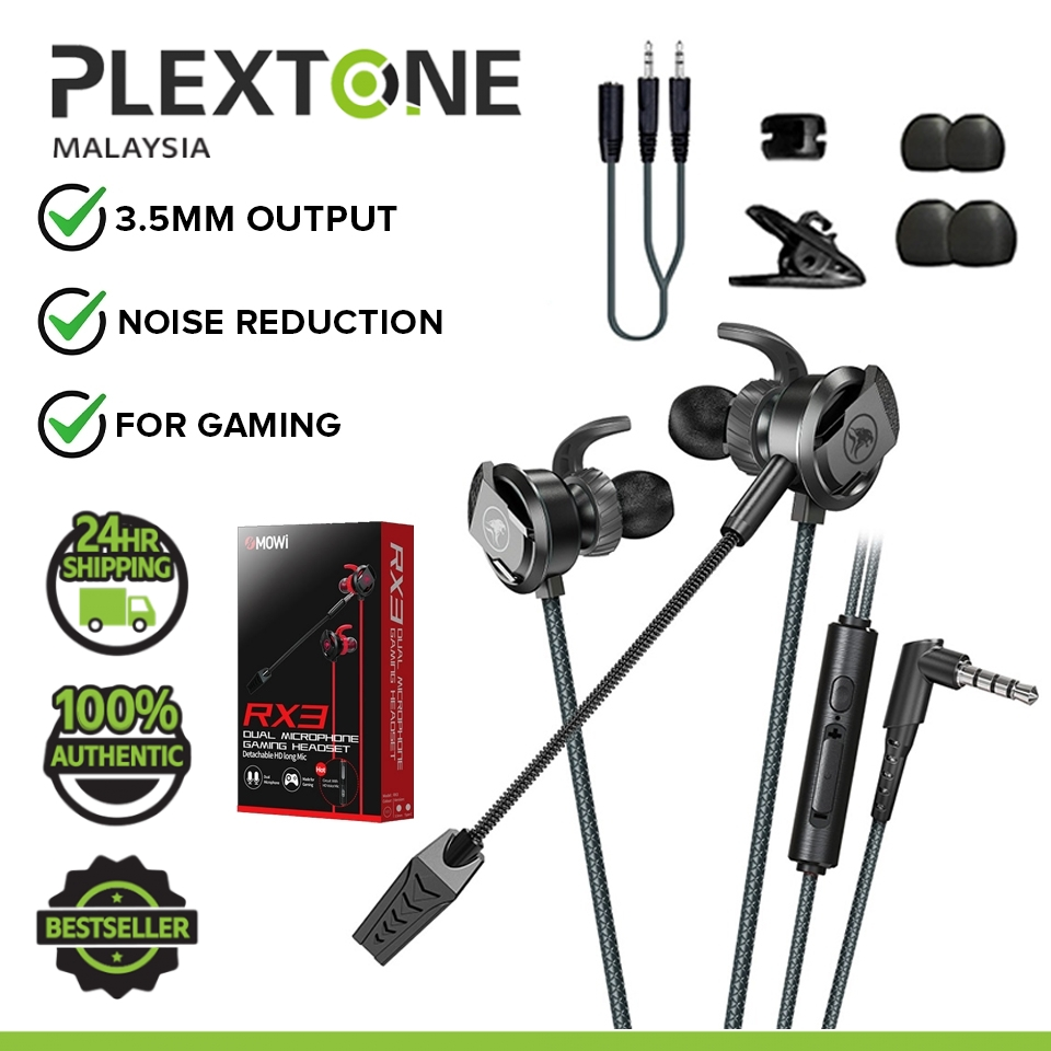 PLEXTONE XMOWI RX3 Gaming Earphones with Dual Microphone and 3D Stereo Sound